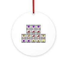 777 Groom (Slots) Ornament (Round)