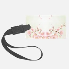 Cherry Blossom In Pink And White Luggage Tag