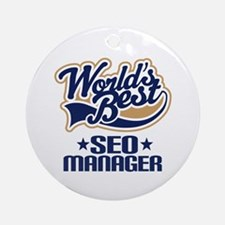 SEO manager Ornament (Round)