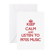 Keep calm and listen to 1970S MUSIC Greeting Cards