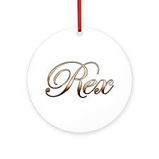 Rex Ornament (Round)