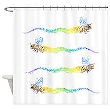 honey bee express Shower Curtain