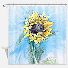 big sunflower Shower Curtain