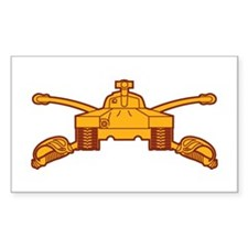 Armor Branch Insignia Rectangle Decal