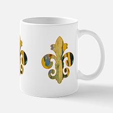 Fleur de lis Faux Paint 8 Mug