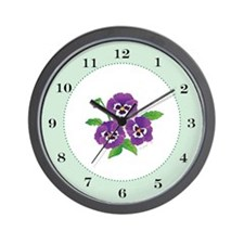 """Pansies"" Wall Clock"
