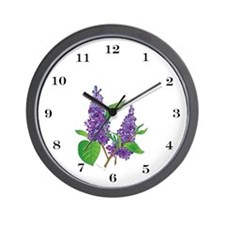 """Lilacs"" Wall Clock"