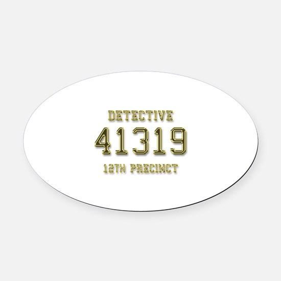 Badge Number Oval Car Magnet