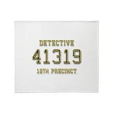 Badge Number Throw Blanket