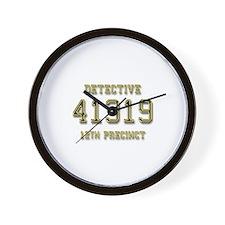Badge Number Wall Clock