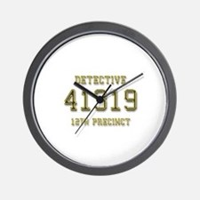 Badge Number Wall Clock