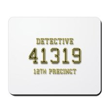 Badge Number Mousepad