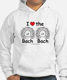 I Love the Bach Double White Hoodie