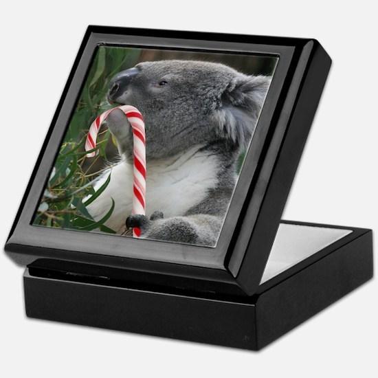 Christmas Koala Candy Cane Keepsake Box