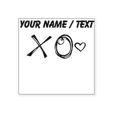 Custom XO Heart Doodle Sticker