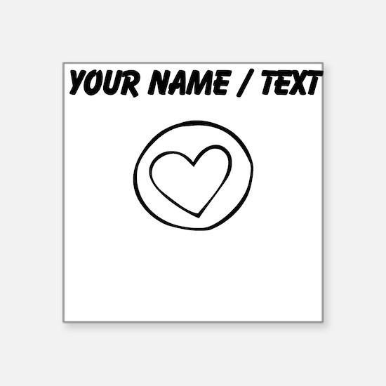 Custom Heart Circle Doodle Sticker