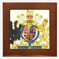 England Coat of Arms 1554-1558 Framed Tile