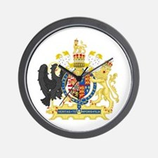 England Coat of Arms 1554-1558 Wall Clock