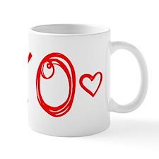 Red XO Heart Doodle Mugs