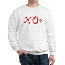 Red XO Heart Doodle Sweater