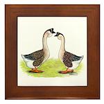 African Geese Framed Tile
