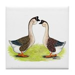 African Geese Tile Coaster