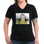 African Geese Women's V-Neck Dark T-Shirt