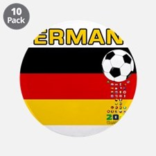 """Germany World Champions 2014 3.5"""" Button (10 pack)"""