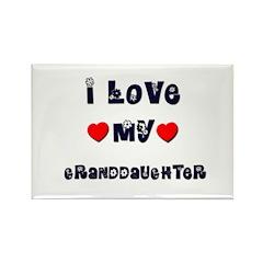 I Love MY GRANDDAUGHTER Rectangle Magnet (10 pack)