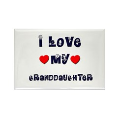 I Love MY GRANDDAUGHTER Rectangle Magnet (10 pack)