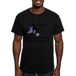 Bowling Superhero Men's Fitted T-Shirt (dark)