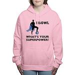 Bowling Superhero Women's Hooded Sweatshirt