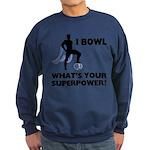 Bowling Superhero Sweatshirt (dark)