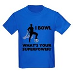 Bowling Superhero Kids Dark T-Shirt