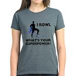 Bowling Superhero Women's Dark T-Shirt