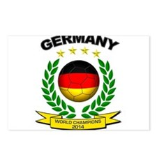 Germany World Champions 2014 Postcards (Package of
