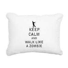 Keep Calm and Walk Like A Zombie Rectangular Canva