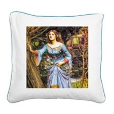 Waterhouse: Ophelia Square Canvas Pillow