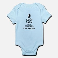 Keep Calm Cause Zombies Eat Brains Body Suit