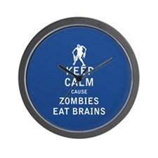 Keep Calm Cause Zombies Eat Brains - FULL Wall Clo