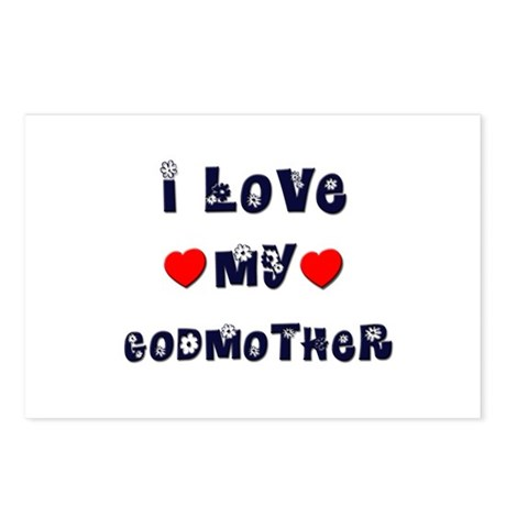 I Love MY GODMOTHER Postcards (Package of 8)