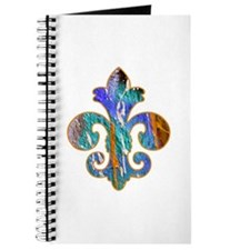 Fleur de lis Faux Paint 7 Journal