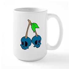 Cadet Blue Skull Cuties Mugs