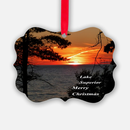 Lake Superior sunset Ornament
