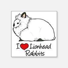 I Heart Lionhead Rabbits Sticker