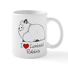 I Heart Lionhead Rabbits Mugs