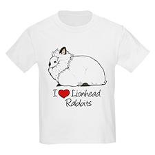 I Heart Lionhead Rabbits T-Shirt