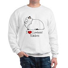 I Heart Lionhead Rabbits Sweatshirt