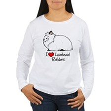 I Heart Lionhead Rabbits Long Sleeve T-Shirt