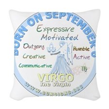September 6th Birthday - Virgo Woven Throw Pillow
